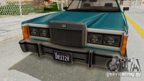 GTA 5 Dundreary Virgo Classic IVF для GTA San Andreas вид изнутри