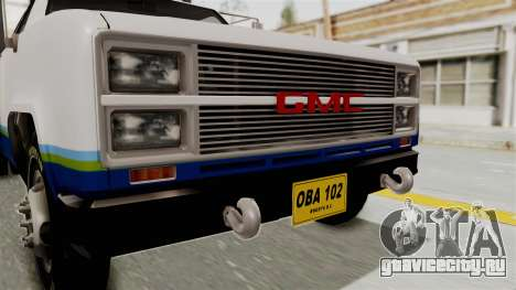 GMC Sierra 3500 для GTA San Andreas вид сзади