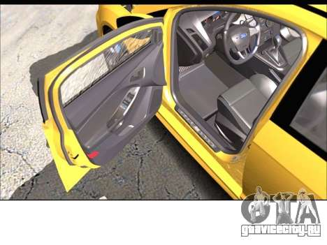 Форд Фокус РС 2017 для GTA San Andreas вид сзади слева
