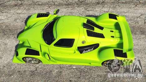 Radical RXC Turbo для GTA 5 вид сзади