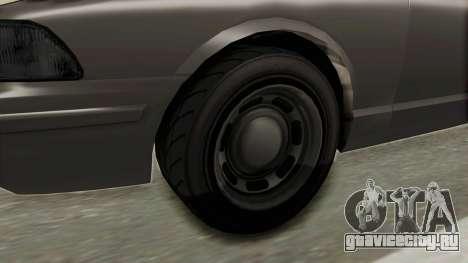 GTA 5 Vapid Stanier II Police Cruiser 2 IVF для GTA San Andreas вид сзади