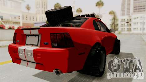 Ford Mustang 1999 Rusty Rebel для GTA San Andreas вид слева