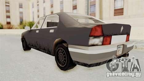 GTA 3 Sentinel для GTA San Andreas вид слева