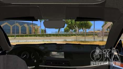 2014 BMW X5 F15 Police для GTA San Andreas вид изнутри