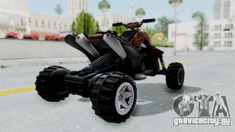 Sand Stinger from Hot Wheels Worlds Best Driver для GTA San Andreas вид сзади слева