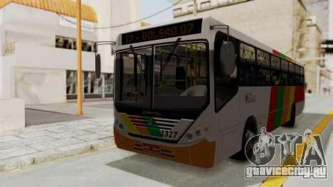 Comil Svelto Viação Trans Líder для GTA San Andreas вид сзади слева