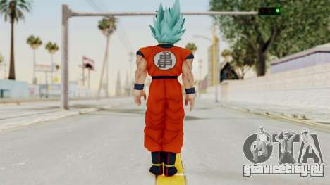 Dragon Ball Xenoverse Goku SSGGSS для GTA San Andreas третий скриншот