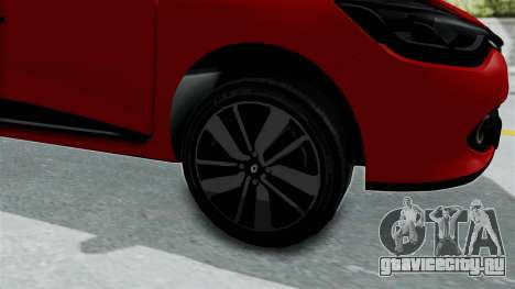 Renault Clio 4 HQLM для GTA San Andreas вид сзади