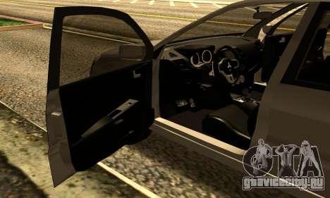 Mitsubishi Lancer 2005 для GTA San Andreas вид сзади