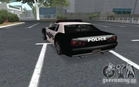 Elegy SAPD для GTA San Andreas вид слева