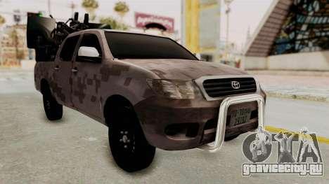 Toyota Hilux 2014 Army Libyan для GTA San Andreas вид справа