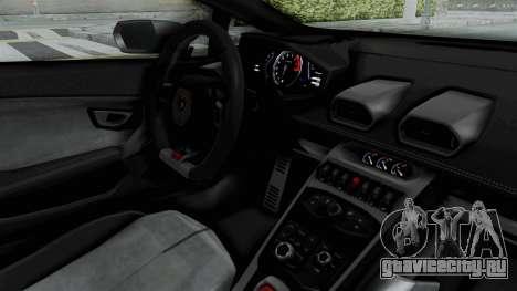 Lamborghini Huracan LP610-4 2015 Liberty Walk LB для GTA San Andreas вид изнутри