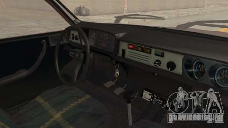Dacia 1310 TX Tuning для GTA San Andreas вид изнутри