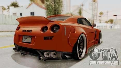 Nissan GT-R R35 Liberty Walk LB Performance для GTA San Andreas вид сзади слева