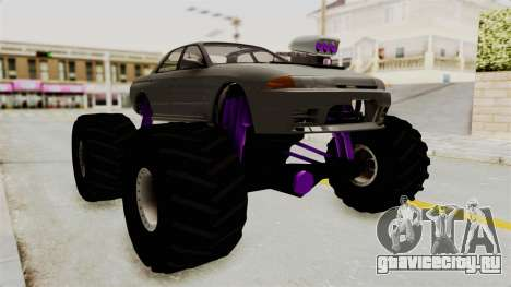 Nissan Skyline R32 4 Door Monster Truck для GTA San Andreas вид справа