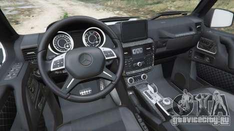 Mercedes-Benz G65 AMG 6x6 для GTA 5 вид сзади справа