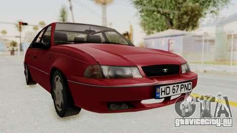 Daewoo Cielo 1.5 GLS 1998 для GTA San Andreas вид сзади слева
