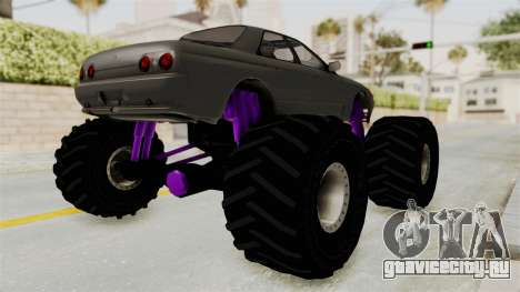 Nissan Skyline R32 4 Door Monster Truck для GTA San Andreas вид сзади слева