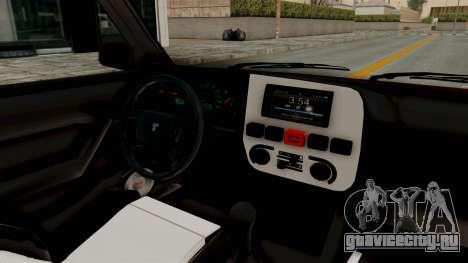 Tofas Dogan 1.6 для GTA San Andreas вид изнутри
