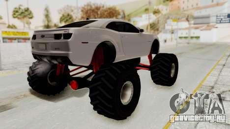 Chevrolet Camaro SS 2010 Monster Truck для GTA San Andreas вид слева