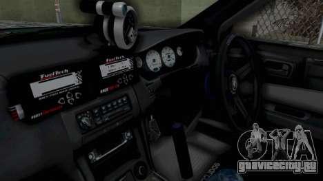Nissan Silvia S14 для GTA San Andreas вид изнутри