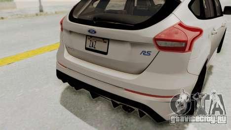 Ford Focus RS 2017 для GTA San Andreas вид снизу