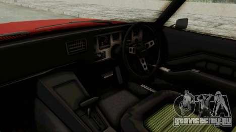 Holden Monaro GTS 1971 SA Plate IVF для GTA San Andreas вид изнутри