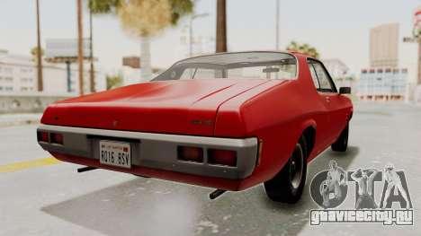 Holden Monaro GTS 1971 SA Plate IVF для GTA San Andreas вид слева