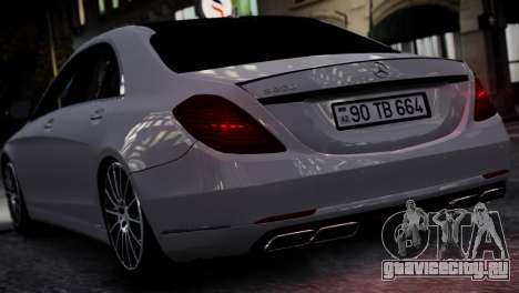 Mercedes-Benz w222 для GTA 4 вид справа