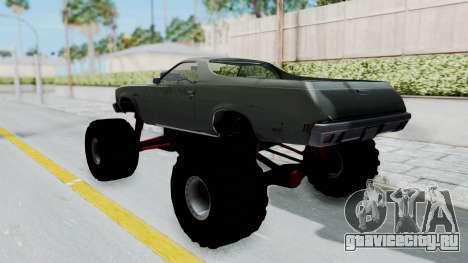 Chevrolet El Camino 1973 Monster Truck для GTA San Andreas вид сзади слева