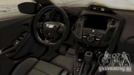 Ford Focus RS 2017 Rocket Bunny для GTA San Andreas вид изнутри