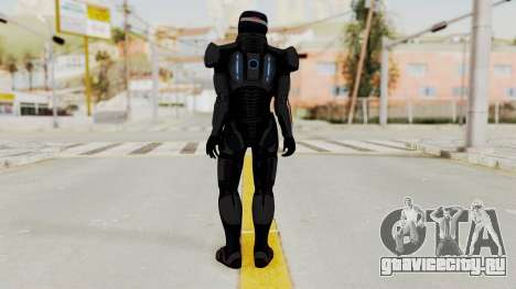 ME2 Shepard Default N7 Armor with Capacitor Helm для GTA San Andreas третий скриншот