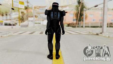 ME2 Shepard Default N7 Armor with Capacitor Helm для GTA San Andreas третий скриншот