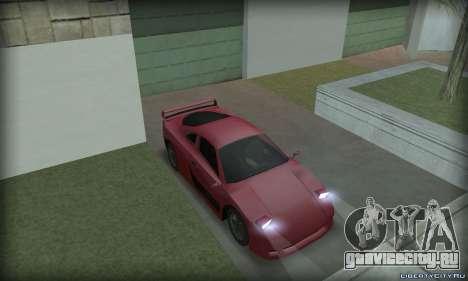 Ferrari F40 для GTA San Andreas вид справа