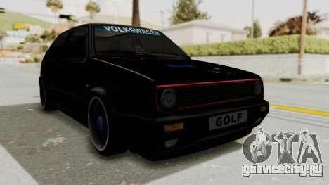 Volkswagen Golf 2 GTI для GTA San Andreas вид справа