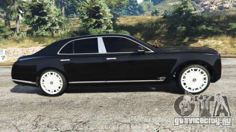 Bentley Mulsanne 2010 для GTA 5 вид слева