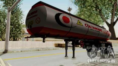 Trailer de Conbustible для GTA San Andreas вид сзади слева