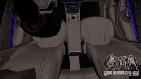 Mercedes-Benz w222 для GTA 4 вид сзади