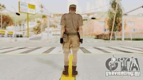 MGSV Phantom Pain CFA Soldier v2 для GTA San Andreas третий скриншот