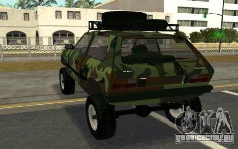 Zastava Yugo для GTA San Andreas вид сзади слева
