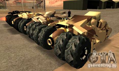 Army Tumbler Gun Tower from TDKR для GTA San Andreas вид изнутри
