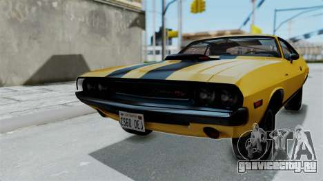 Dodge Challenger RT 440 1970 Six Pack для GTA San Andreas