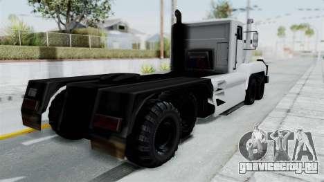 Roadtrain 8x8 v1 для GTA San Andreas вид сзади слева