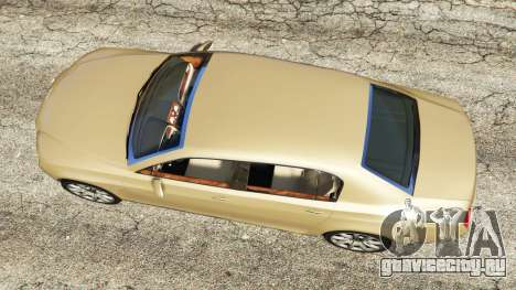Bentley Continental Flying Spur 2010 для GTA 5 вид сзади