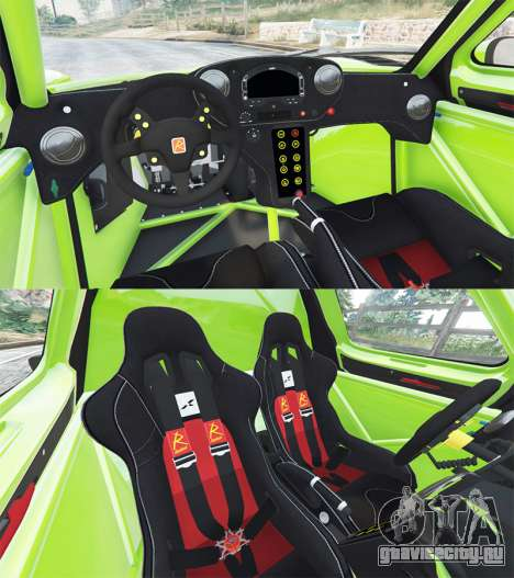 Radical RXC Turbo для GTA 5 вид сзади справа