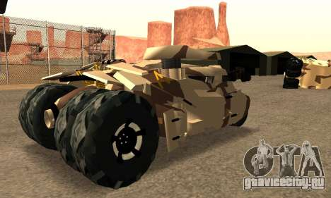 Army Tumbler Gun Tower from TDKR для GTA San Andreas вид сзади слева