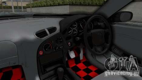 Mazda RX-7 FD3S HellaFlush для GTA San Andreas вид изнутри