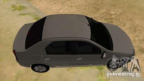 Dacia Logan для GTA San Andreas вид изнутри