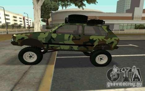 Zastava Yugo для GTA San Andreas вид слева