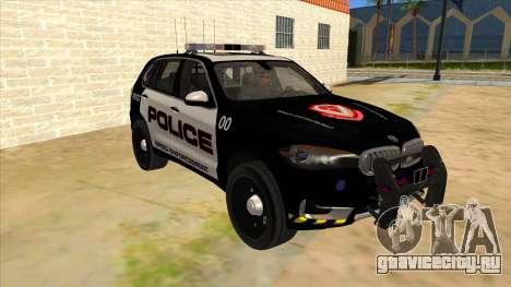 2014 BMW X5 F15 Police для GTA San Andreas вид сзади